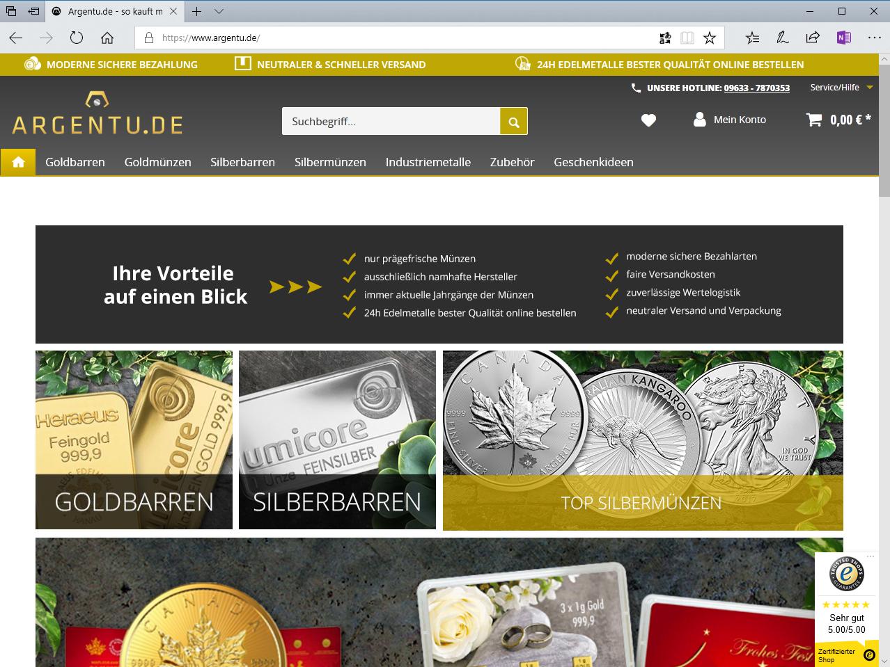 www.argentu.de — Logentu GmbH neu auf Bullion-Investor.com