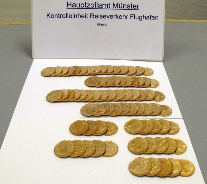 Zoll stoppt Goldmünzen-Koffer am Flughafen