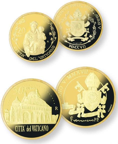 20 + 50 euro vatikan goldmuenzen