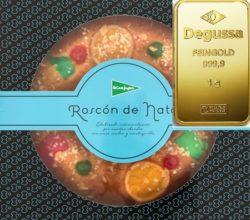El Corte Inglés versteckt Degussa Goldbarren in den Roscones-Kuchen