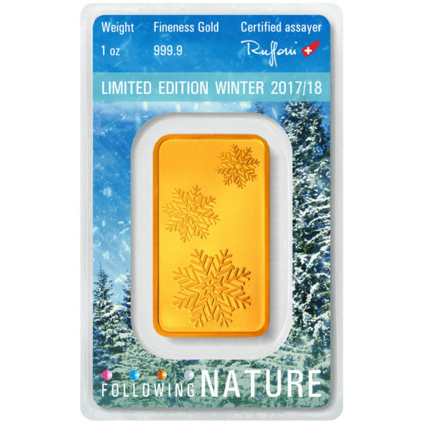 goldbarren following nature winter heraeus 2017 1oz