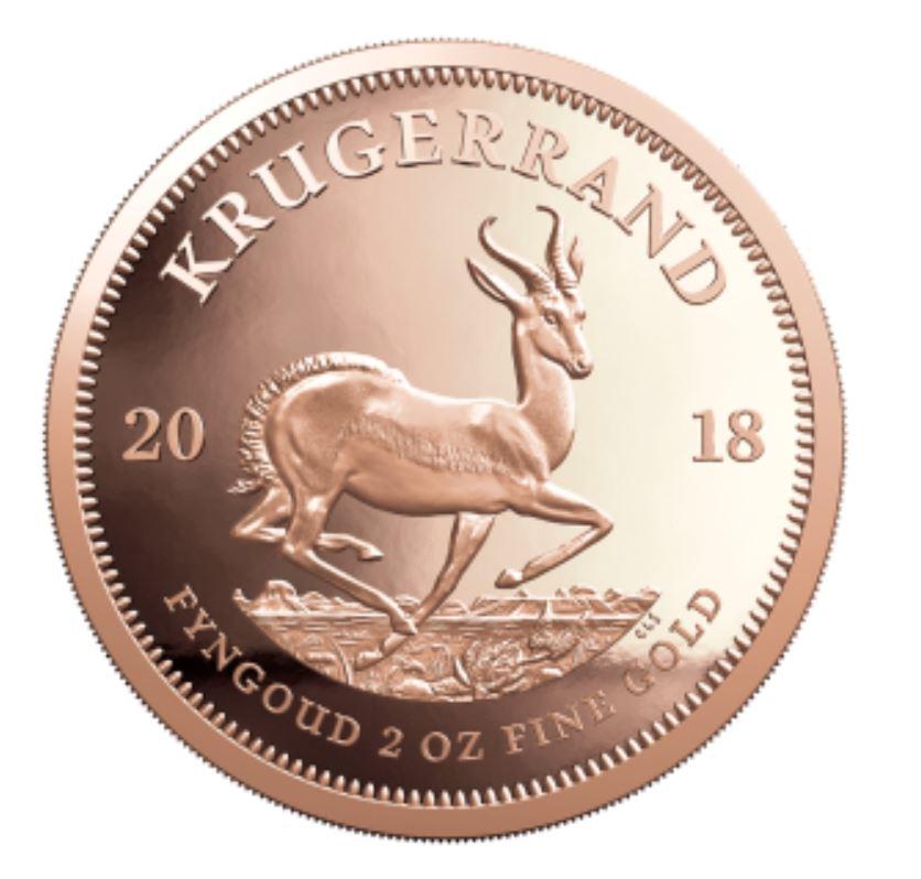 Krügerrand Silber 2018 Bullionmünze und 2 oz Krüger in Gold kommen