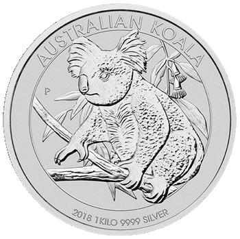 kilo koala silber 2018 perth mint