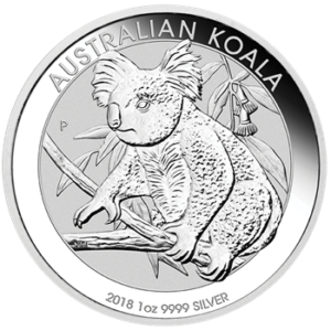 Perth Mint gibt Koala Silbermünzen 2018 frei