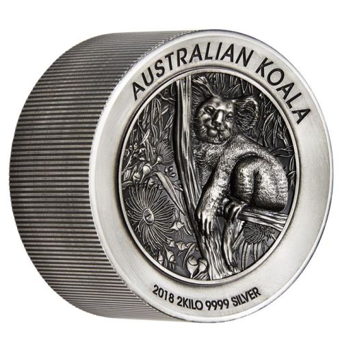 koala 2kg antik finish 2018 kilogram perth mint