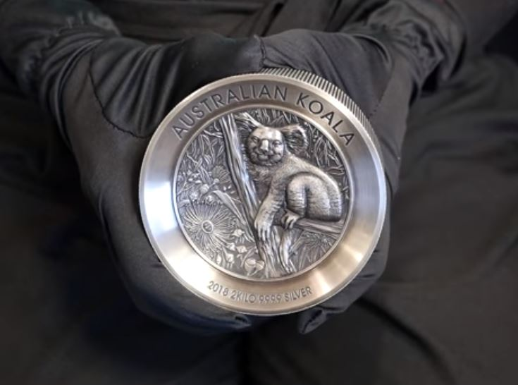 Perth Mint überrascht mit 2kg Koala Silbermünze 2018 in Antik Finish