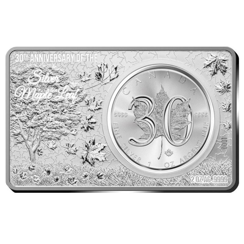 Maple Leaf 30 Jahre Jubiläum jetzt im Silber-Münzbarren
