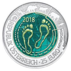niob österreich 25 euro 2018 anthropozän
