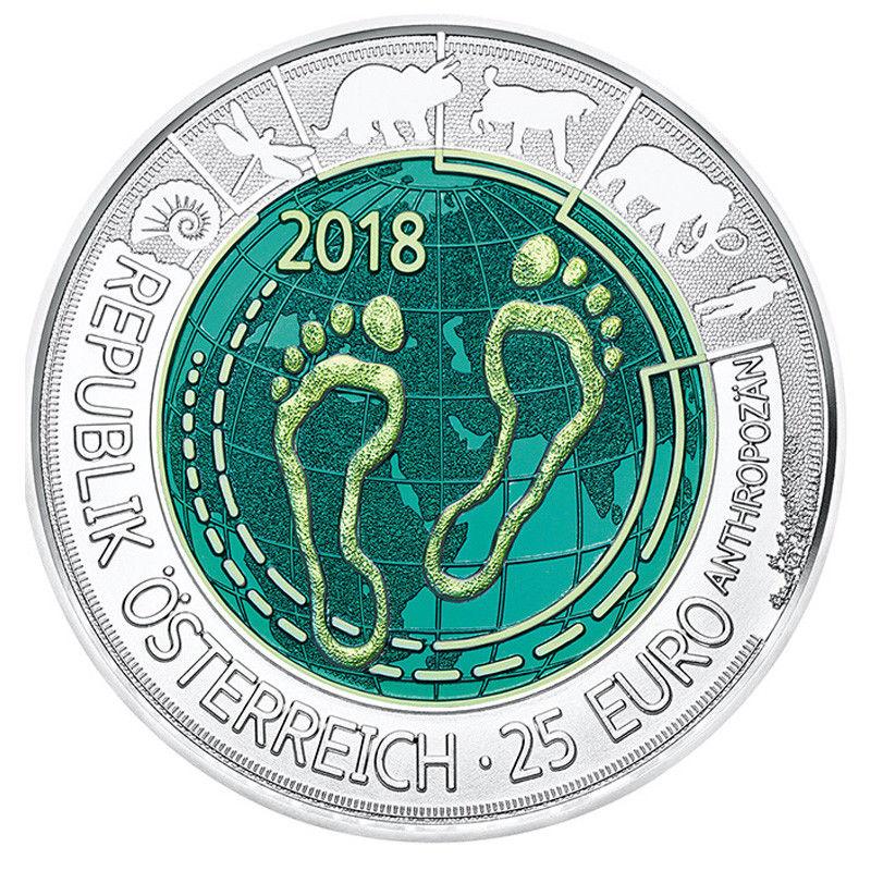 Neue Niobmünze Österreich 25 Euro 2018 Anthropozän