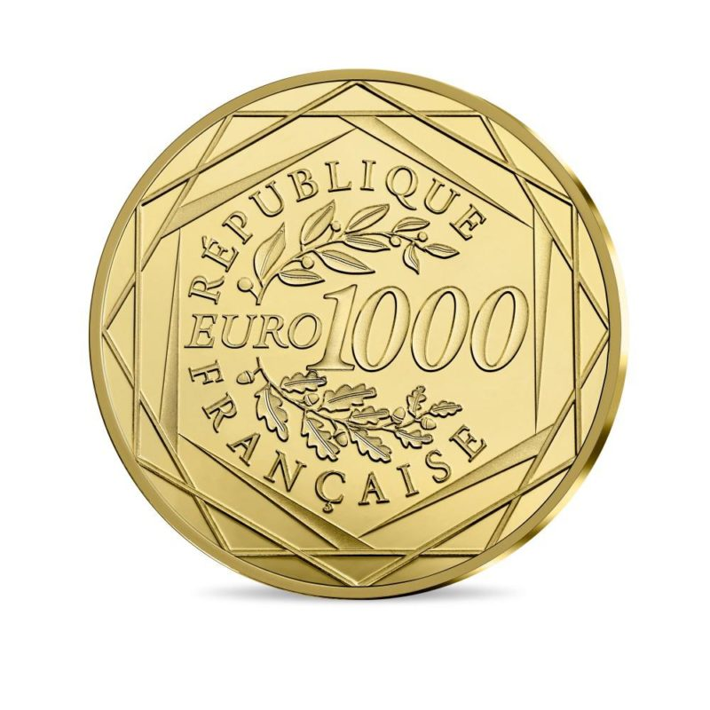 1000 euro goldmuenze frankreich 2018