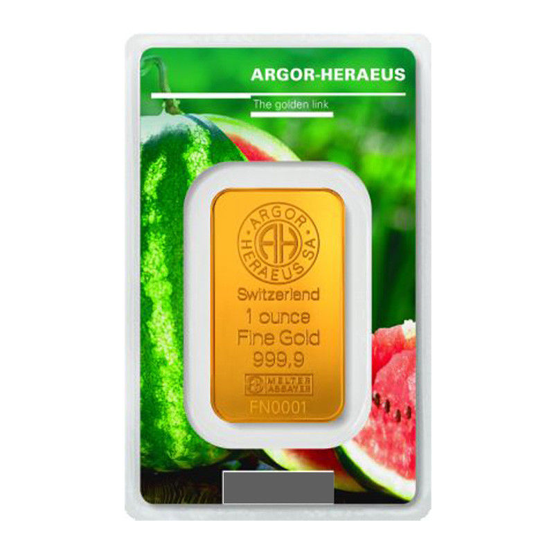 Goldbarren 1oz Unze Sommer Following Nature 2018 Melone