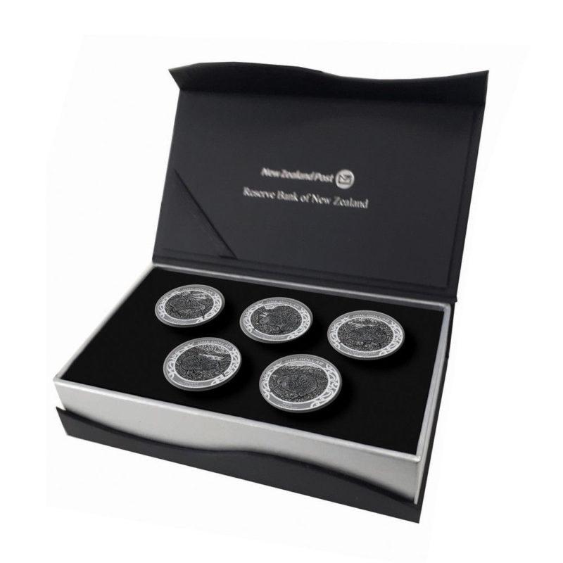 specimen satz kiwi 2019 5 münzen