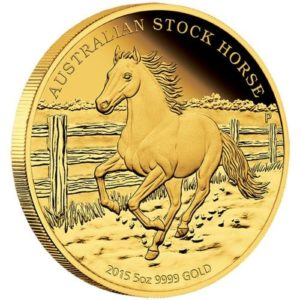 stock horse goldmünze 2015 5oz