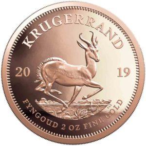 Beim Krügerrand gibt es jetzt eine 2 Unzen Goldmünze 2019
