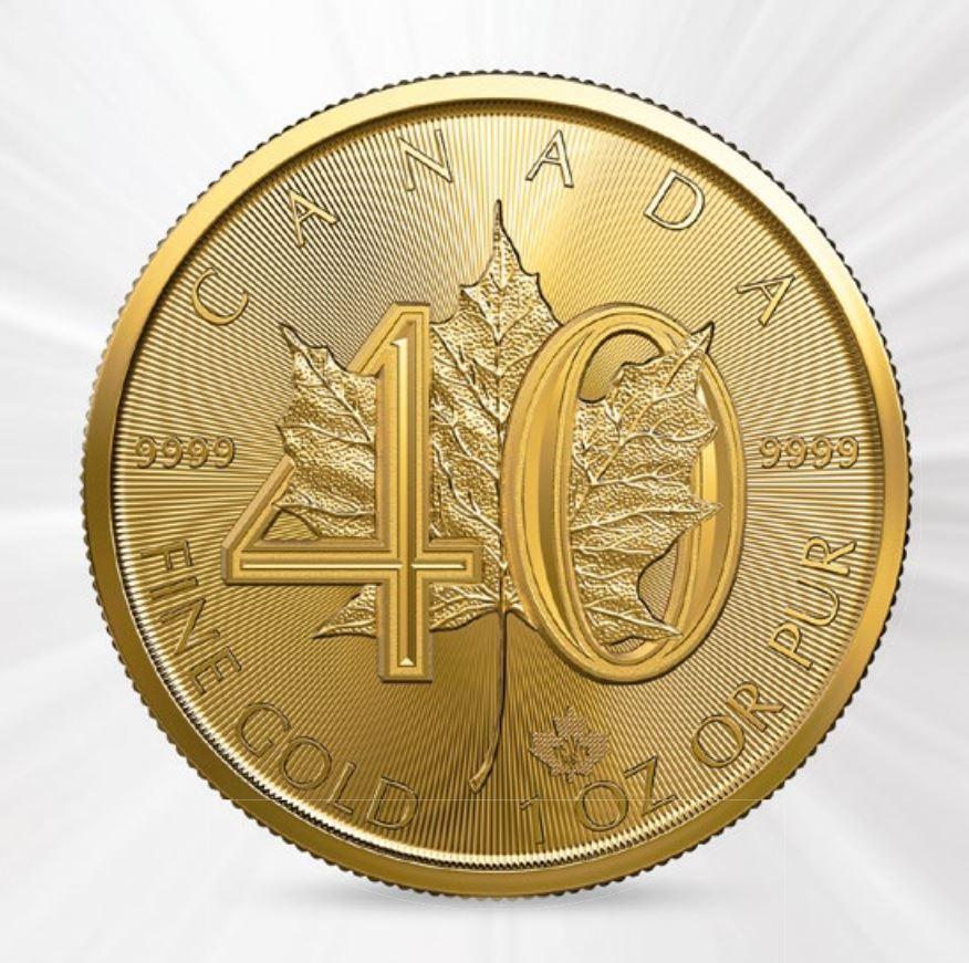 Goldmünze Maple Leaf 2019 - Jubiläum