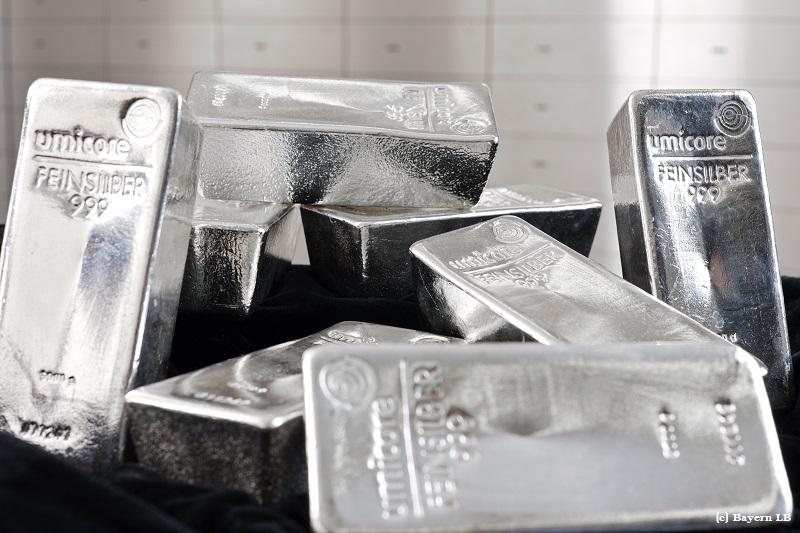 Bayern LB handelte 354 Tonnen Silber in 2018