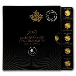 Maplegram 2019 Maple Leaf 1 Gramm Goldmünze