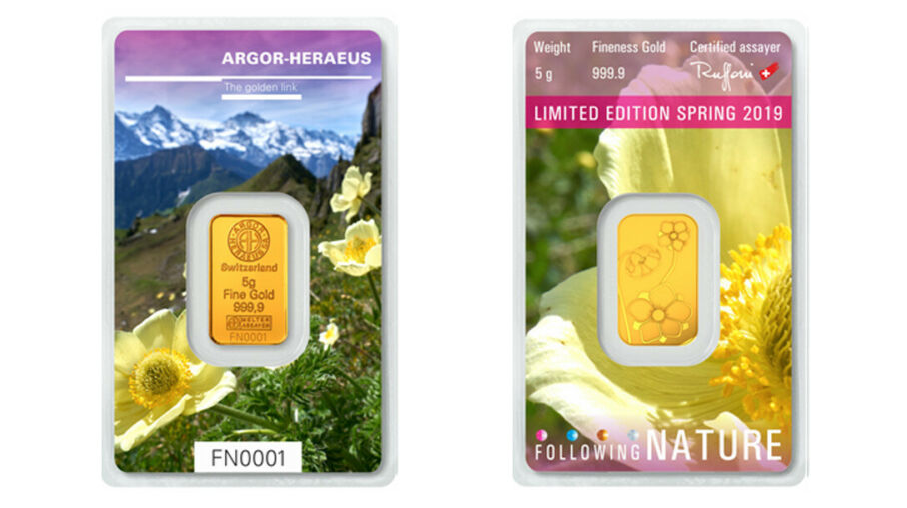 Following Nature Frühling Goldbarren von Heraeus sind da