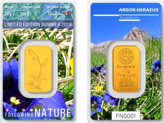 Heraeus Following Nature Goldbarren Sommer 2019 auf dem Markt