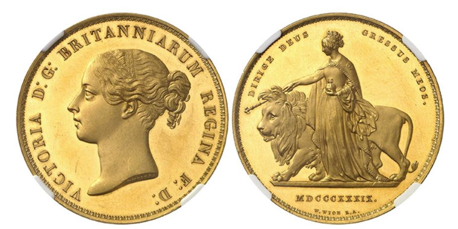 Goldmünze Victoria 1839