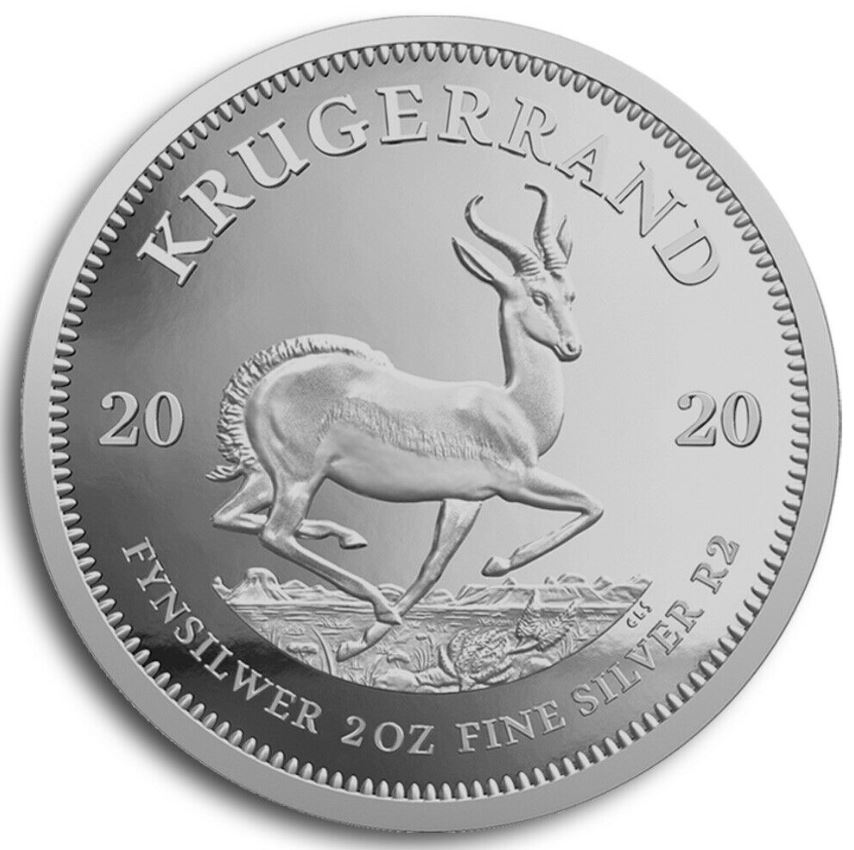 Krügerrand 2 oz Silber 2020
