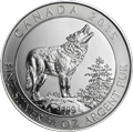 Canadian Grey Wolf Silbermünzen kaufen
