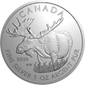 Canadian Wildlife Elch Silbermünzen kaufen