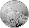 Canadian Wildlife Grizzly Silbermünzen kaufen