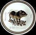 Lunar Schwein Silbermünzen kaufen