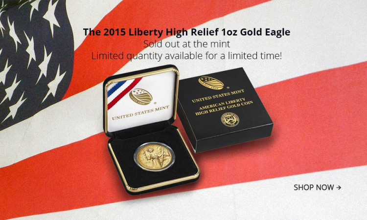 American Liberty, 100 $, 1oz Gold, Proof, High Relief, 2015