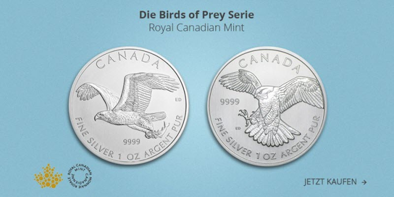 Birds of Prey, Peregrine Falcon, 1oz Silver, 2014