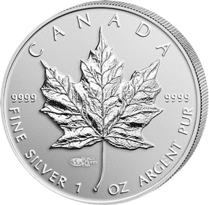 maple-leaf silver