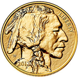 American Buffalo One Ounce Gold Reverse Proof Coin BV1