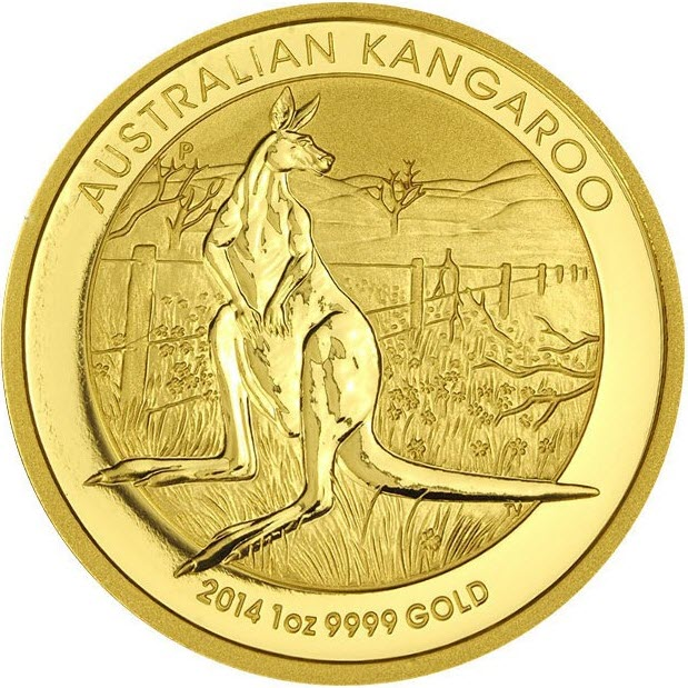 1oz gold kaenguru 2014 rs