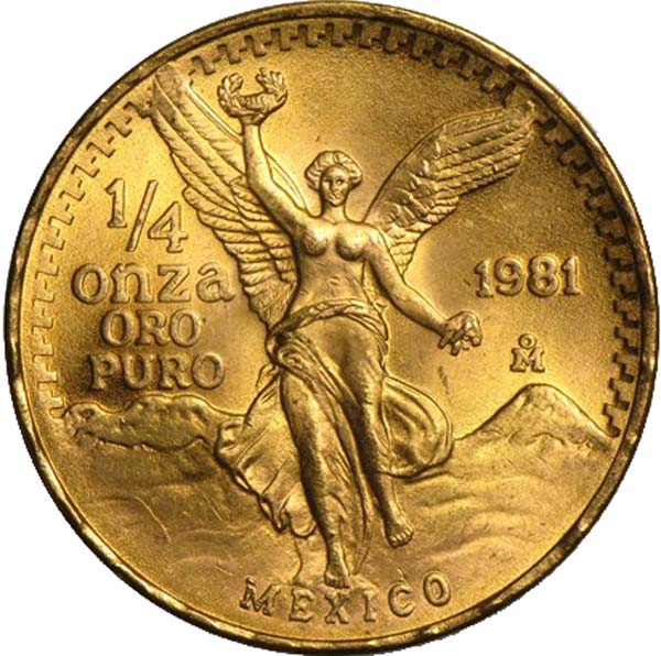1 4 oz gold libertad obverse 1981