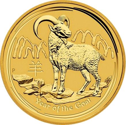 Perth Mint 2015 Australian Lunar Year of the Goat Gold Bullion Coins