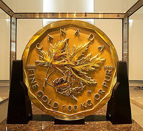 100kg gold mapleleaf rev
