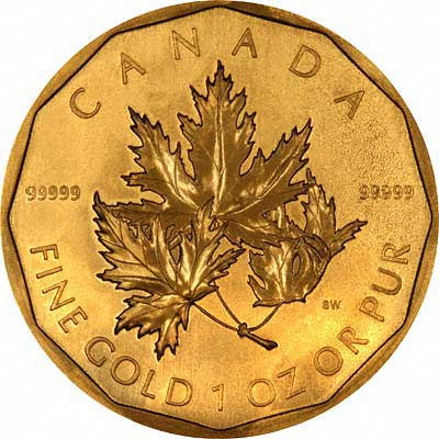 Maple Leaf 99999 Gold 2007 Reverse Side