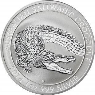 10967 0 AUstralien 1 Dollar 2014 Bfr Krokodil