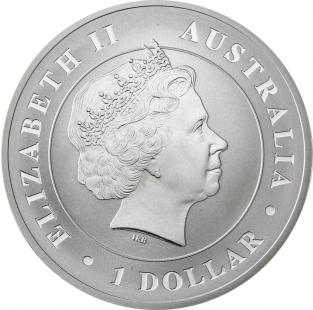 10967 1 AUstralien 1 Dollar 2014 Bfr Krokodil I