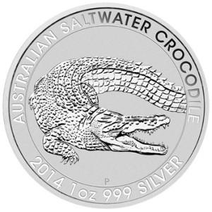 2014 Australian Saltwater Crocodile 1oz Silver Bullion Coin Reverse L 300x300