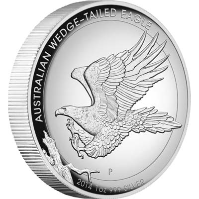 0 Australian Wedge Tailed Eagle 2014 Silver Coin Reverse