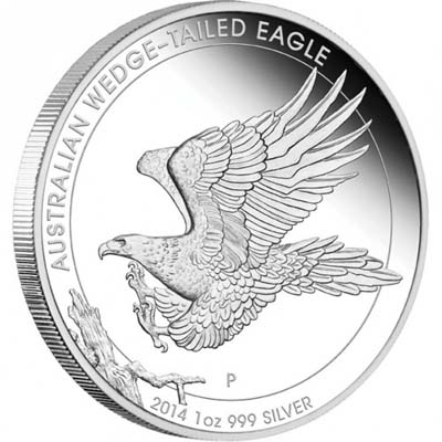 australian wedge tailed eagle 2014 1oz silver proof coin reverse