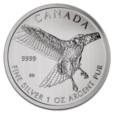 birds of prey red tailed hawk 1oz silver 2015