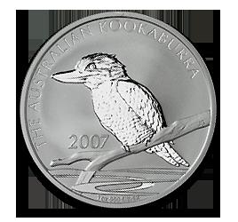 2007 kookaburra 1oz silver