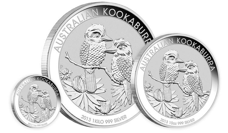 2013 Australian Kookaburra Silver Bullion Coins