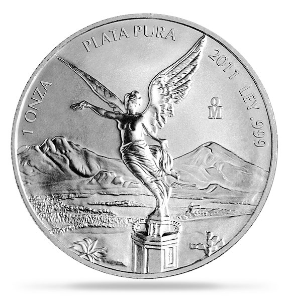 silver mexican libertad 1oz avers 2011