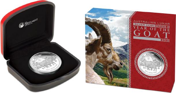 Lunar II Ziege 2015 Year of the Goat Proof COA