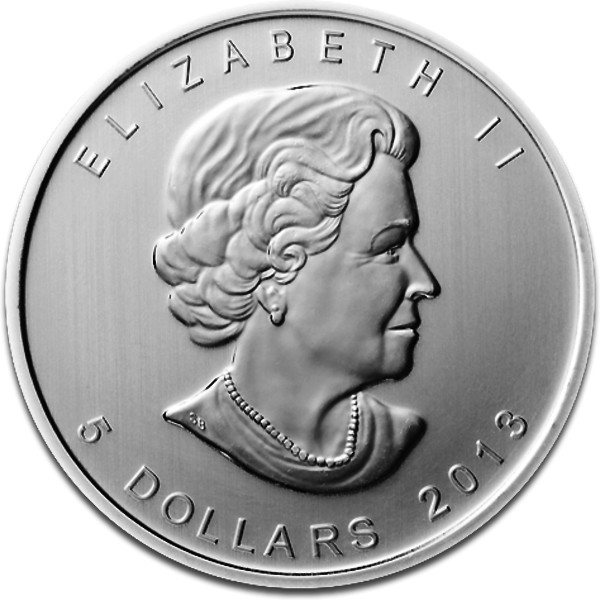 maple leaf 1oz silver 2013 reverse