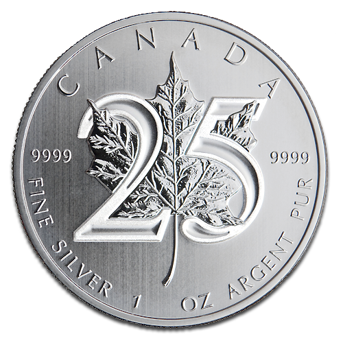 silver maple leaf 25th anniversary 2013